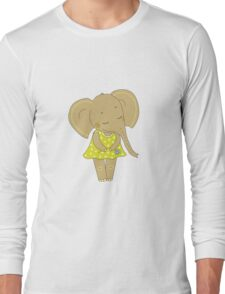 Cute elephant girl Long Sleeve T-Shirt