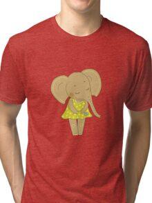 Cute elephant girl Tri-blend T-Shirt