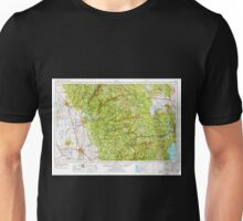 USGS TOPO Map California CA Chico 299748 1958 250000 geo Unisex T-Shirt