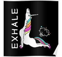 Yoga Unicorn - EXHALE Poster