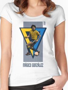Mágico González 11 Women's Fitted Scoop T-Shirt