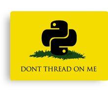 Python Snek - Don't Thread On Me Canvas Print