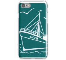 Trawlers Ross Tiger in Turquoise iPhone Case/Skin
