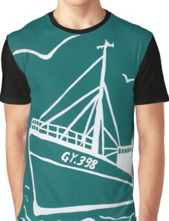 Trawlers Ross Tiger in Turquoise Graphic T-Shirt