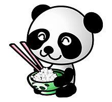 panda eating Photographic Print