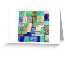 Complex Pattern with Golden Lines Greeting Card