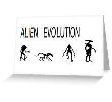 Alien Evolution Greeting Card