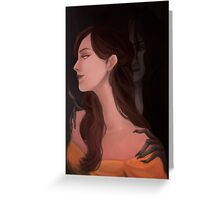 When Beauty Loves the Darkness Greeting Card