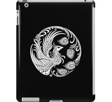 Traditional White Chinese Phoenix Circle iPad Case/Skin