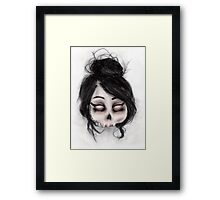 The inability to perceive with eyes notebook II Framed Print