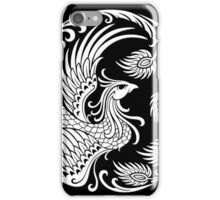 Traditional White Chinese Phoenix Circle iPhone Case/Skin
