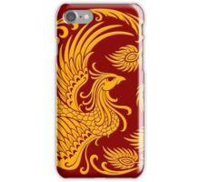 Traditional Yellow Chinese Phoenix Circle iPhone Case/Skin