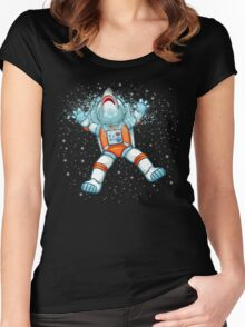 Space Surprise Women's Fitted Scoop T-Shirt