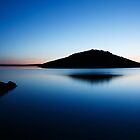 Dawn over Veli and Mali Osir islands on Losinj, Croatia by Ian Middleton