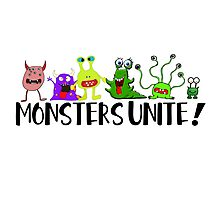 Monsters Unite! Photographic Print