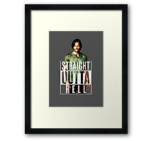 Straight Outta Hell Framed Print