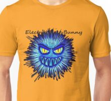Electric Dust Bunny Black and Blue Unisex T-Shirt