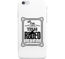 Old Texas Rodeo Vintage Poster iPhone Case/Skin