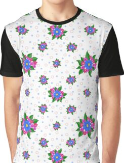 Blue flower pattern on light background Graphic T-Shirt