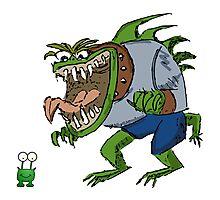 Funny Cartoon - Unimpressed Monster  Photographic Print