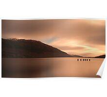 Loch Lomond golden Sunset Poster