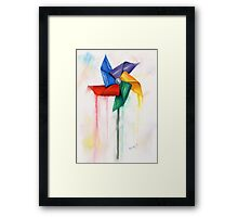 Blowing In the Wind... Framed Print