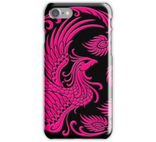 Traditional Pink Chinese Phoenix Circle iPhone Case/Skin