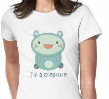 Cute Cartoon Creature Womens Fitted T-Shirt