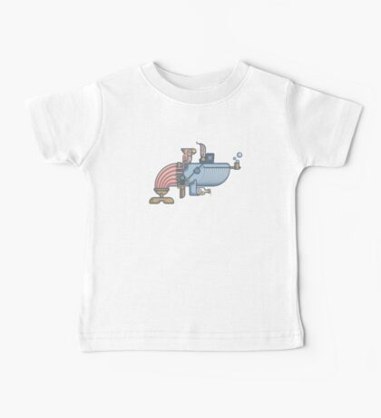 Pirate Whale Baby Tee