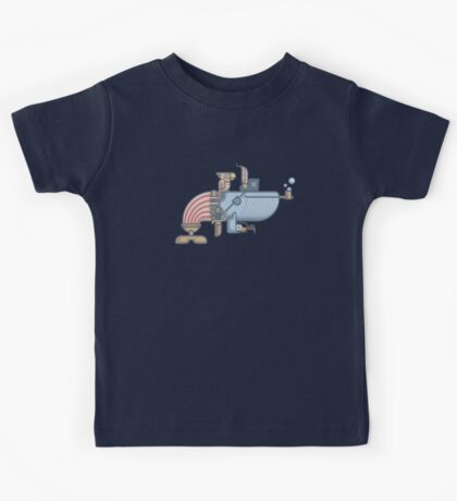 Pirate Whale Kids Tee