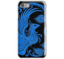Traditional Blue Chinese Phoenix Circle iPhone Case/Skin