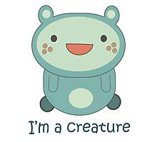 Cute Cartoon Creature Photographic Print