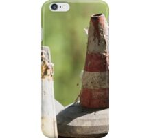road cone in the meadow iPhone Case/Skin