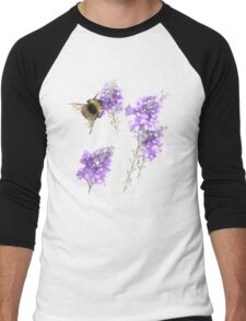 Watercolor Bumble Bee  Men's Baseball ¾ T-Shirt