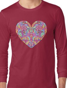 abstract colorful heart  Long Sleeve T-Shirt