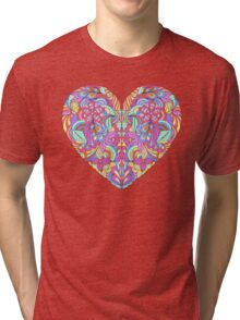 abstract colorful heart  Tri-blend T-Shirt