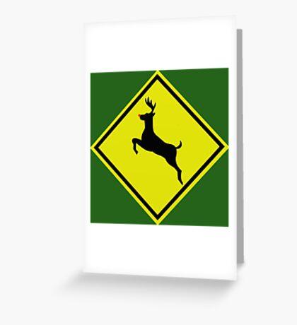 Reindeer crossing  Greeting Card