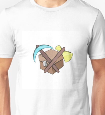 Pickaxe, Axe and Chest Better Unisex T-Shirt
