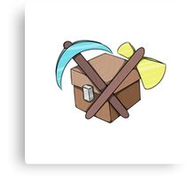 Pickaxe, Axe and Chest Better Canvas Print