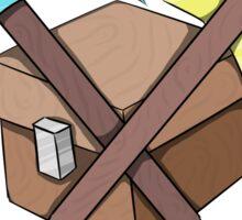 Pickaxe, Axe and Chest Better Sticker