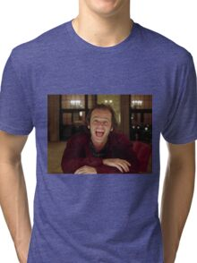 Jack Nicholson The Shining Still - Stanley Kubrick Movie Tri-blend T-Shirt