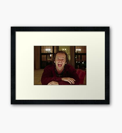 Jack Nicholson The Shining Still - Stanley Kubrick Movie Framed Print