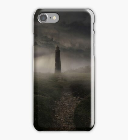 Lighthouse in the rain iPhone Case/Skin