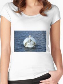 swan on the lake Women's Fitted Scoop T-Shirt