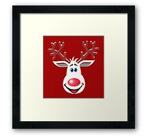 Happy Rudolph - The Red Nosed Reindeer Framed Print