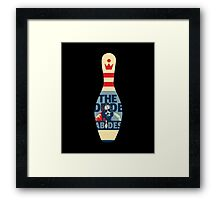The Dude Bowling Pin Framed Print