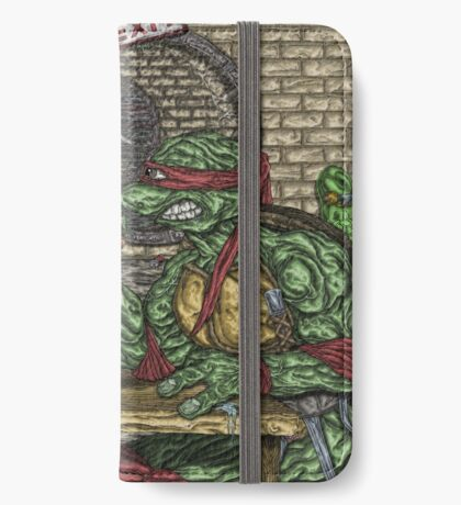 Teenage Mutant Ninja Turtles Vs. Thundercats - Arm Wrestle iPhone Wallet/Case/Skin