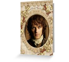 Jamie Fraser close-up Greeting Card