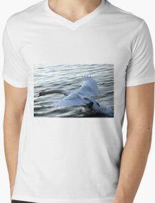 swan on the lake Mens V-Neck T-Shirt