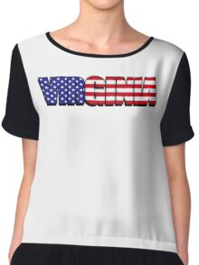 Virginia United States of America Flag Chiffon Top